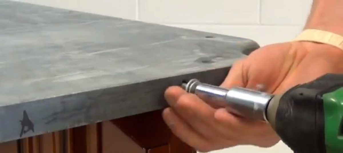 Direct slate bolting for superior bounce